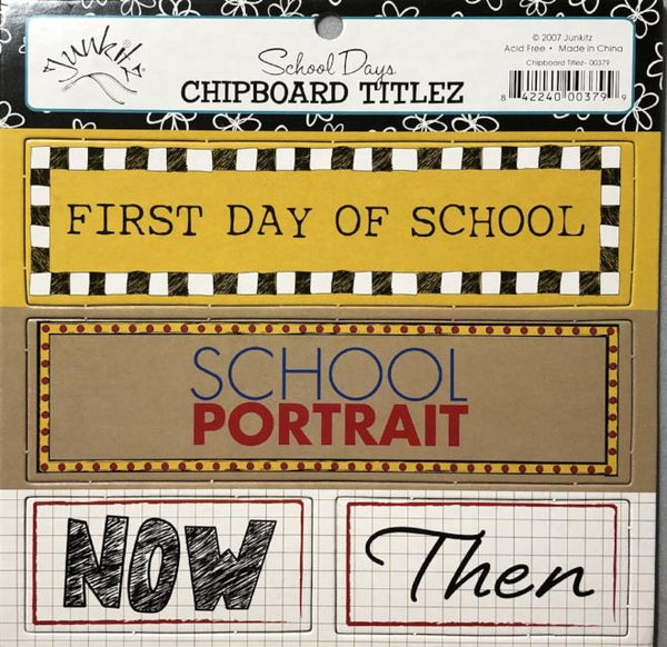 School Days Chipboard