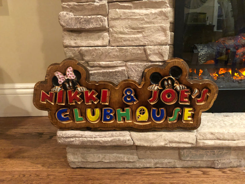 Child's Clubhouse / Playhouse / Playroom / Bedroom /Playground - Custom Birchwood Personalized Decor - Wood Sign