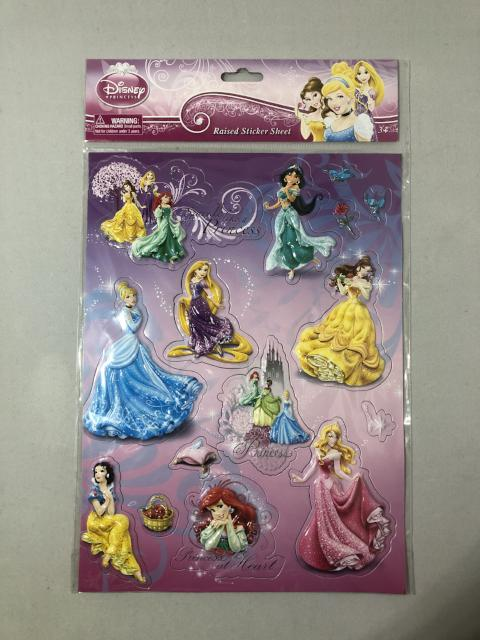 Disney Princess - Raised Stickers