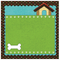 Dog - Scrapbook Paper - 3D