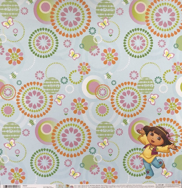 Dora the Explorer Scrapbook 12x12 Cardstock - Single Sided