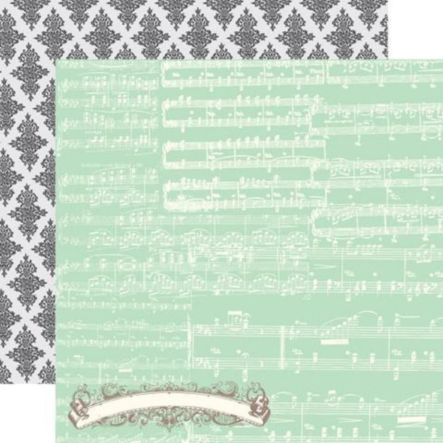 Echo Park - Everyday eclectic  - 12 x 12 Double Sided Paper - Music Notess