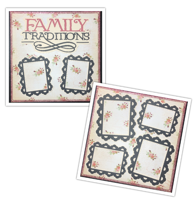 Family Traditions 2 Page Layout Kit