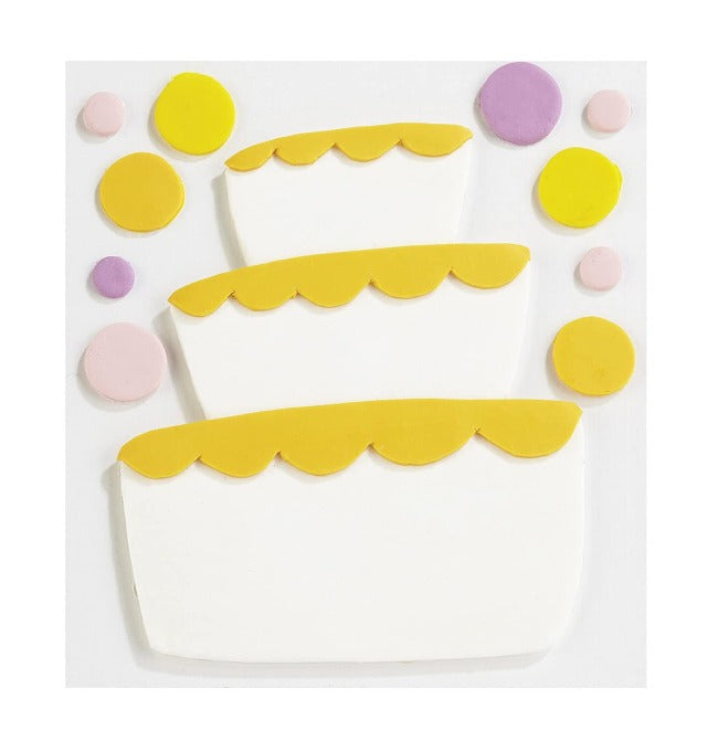 Jolee's Boutique Confections Fondant Tier Cake Dimensional Sticker