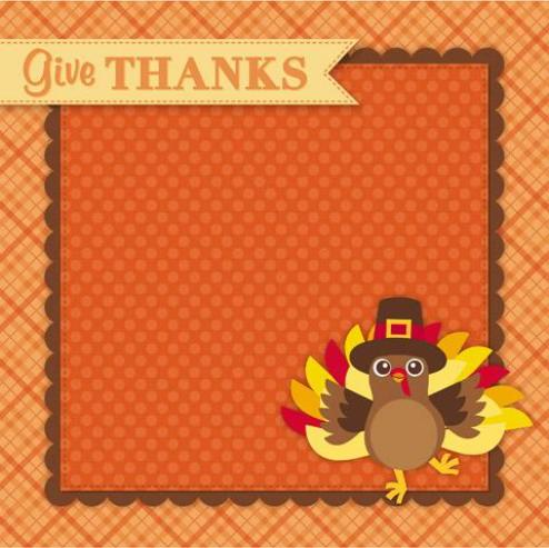 Thanksgiving - Scrapbook Paper- 3D