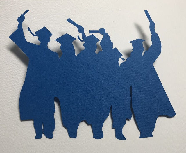 Group of Graduates Silhouette - Die Cuts