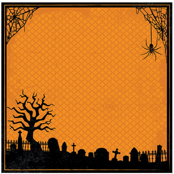 Halloween Spider - Scrapbook Paper - 3D
