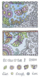 Hampton Arts Color Me Clear Stamps ~ Beautiful