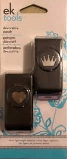 EK Success Mini Paper Punch: Heart & Crown