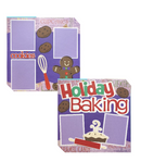 Holiday Baking 2 Page Layout Kit