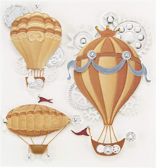 Steampunk Flying Machines Dimensional Embellishments