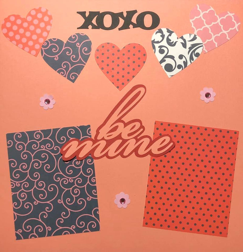 Be Mine / I Love You - 2 Page Layout Kit