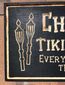 Personalized TIKI BAR/Outdoor BAR Sign - Birchwood Sign for Indoor/Outdoor - Can be Customized