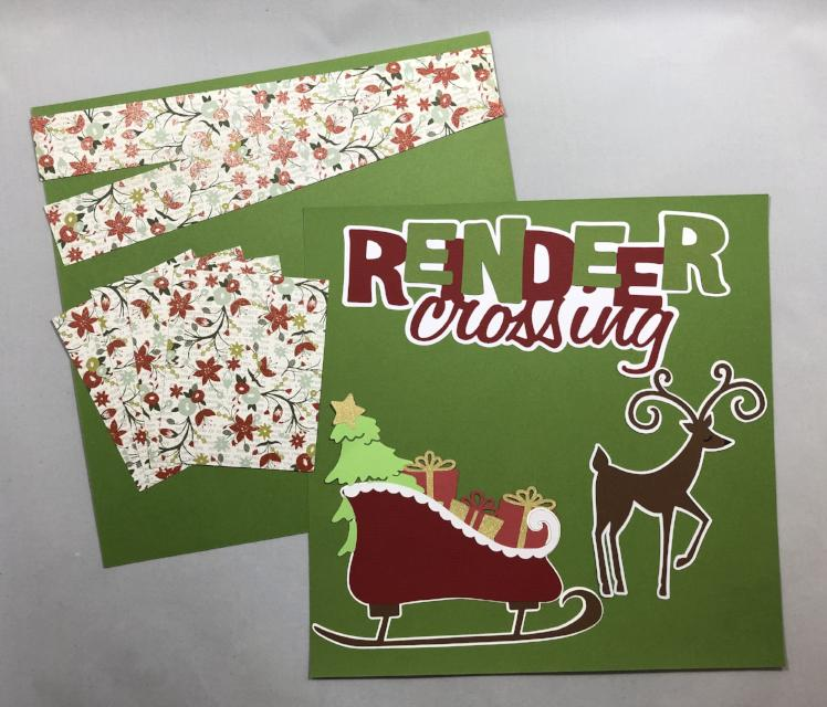 Reindeer Crossing - 2 Page Layout