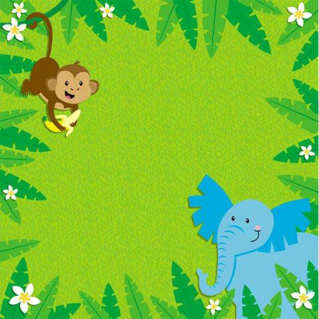Jungle Animals - Scrapbook Paper - 3D