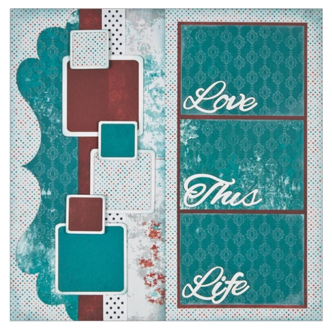 "Love This Life - (2) 12"" x 12"" Page Layouts"