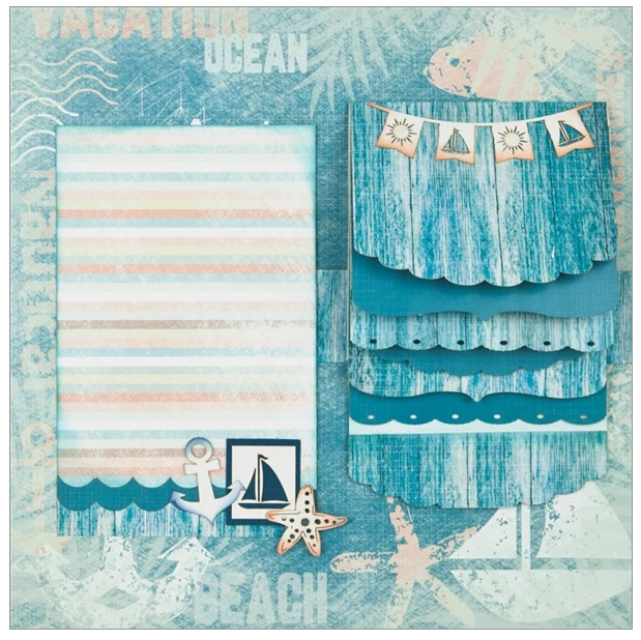 Ocean Vacation 2 Page Layout Kit