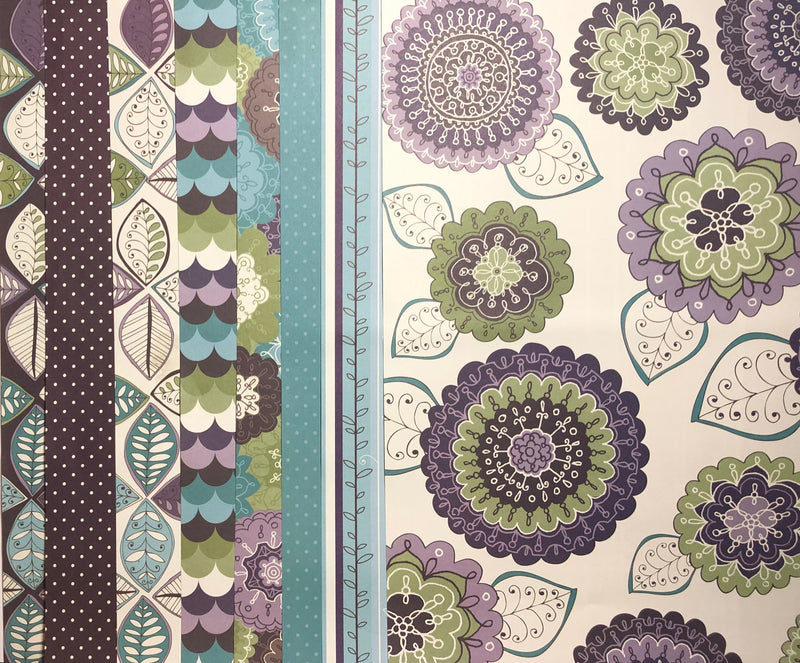 Patterned Paper Pack - Paisley - 8 Sheets