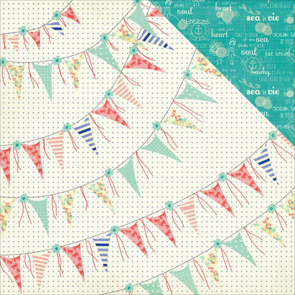Photo Play - Nautical Bliss 12 X 12 Paper:  Bliss Banners