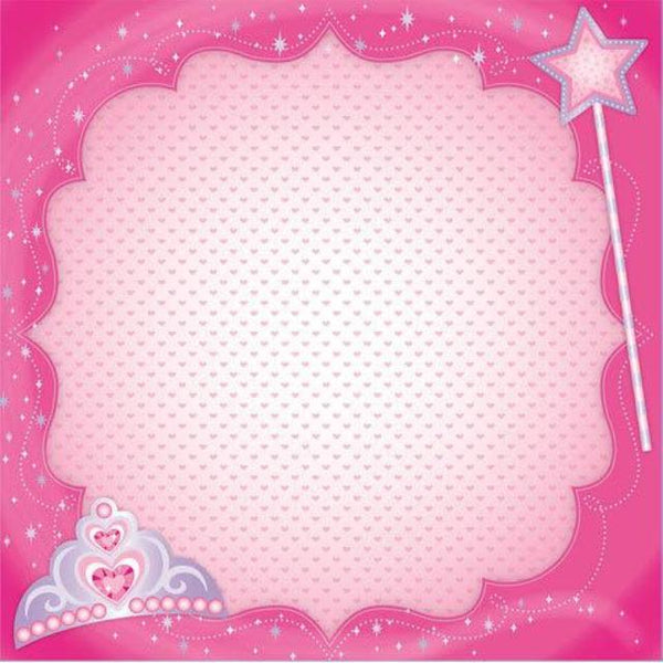 Princess - Scrapbook Paper -3D