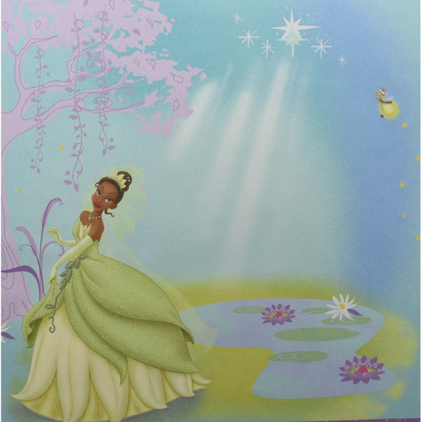 Sandylion: Scrapbook Paper 12 x 12 Disney Princess Tiana - Wedding Dress - Single Sided