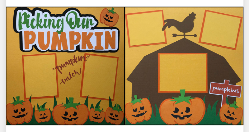 Picking Our Pumpkin - 2 Page Layout Kit