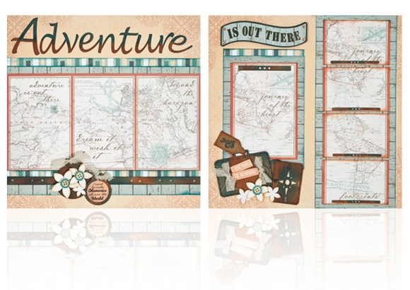 "Adventure - (2) 12"" x 12"" Page Layouts"