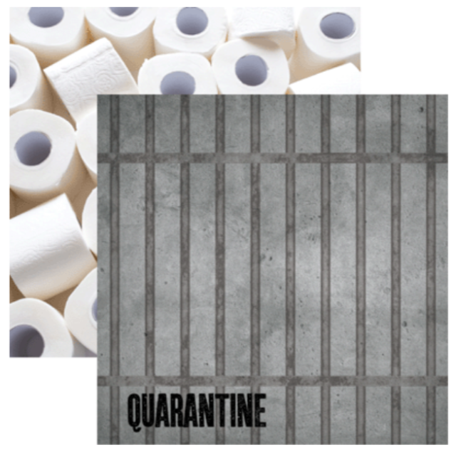 THERE'S NO PLACE LIKE HOME: QUARANTINE 12 x 12 CARDSTOCK