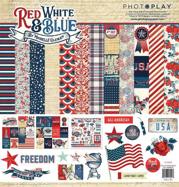 Red, White & Blue Paper Pack
