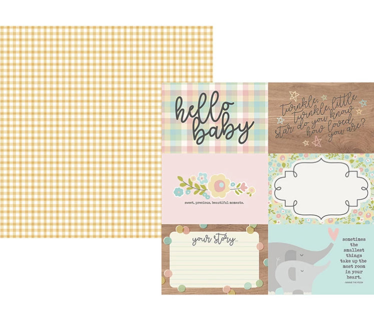 Simple Stories - Oh, Baby Collection - 12 x 12 Double Sided Paper - 4 x 6 Horizontal Elements