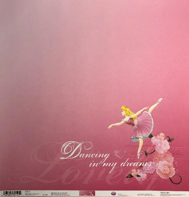 SandyLion: 12x12 Disney: Sleeping Beauty Dancing Scrapbook Paper - Single Sided