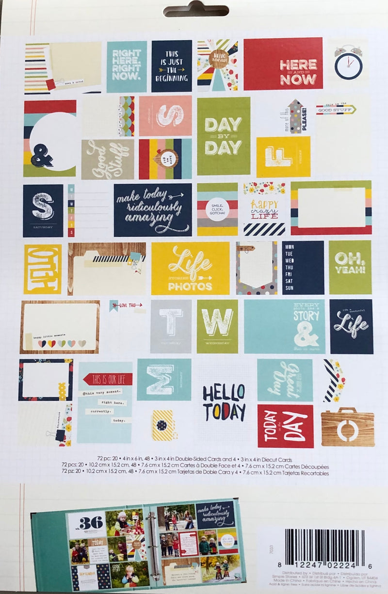 Simple Stories Snap Life Documented Everyday Cards (72 Pack)