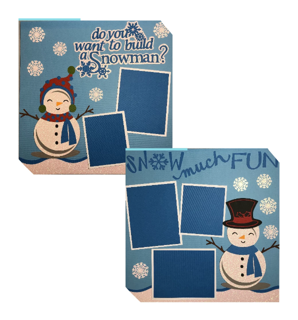 Snow Much Fun - 2 Page Layout Kit - Winter