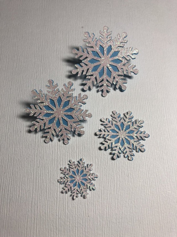 Glitter Snowflakes (Set of 4) - Die Cuts