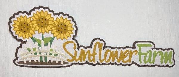 Sunflower Farm - Die Cut