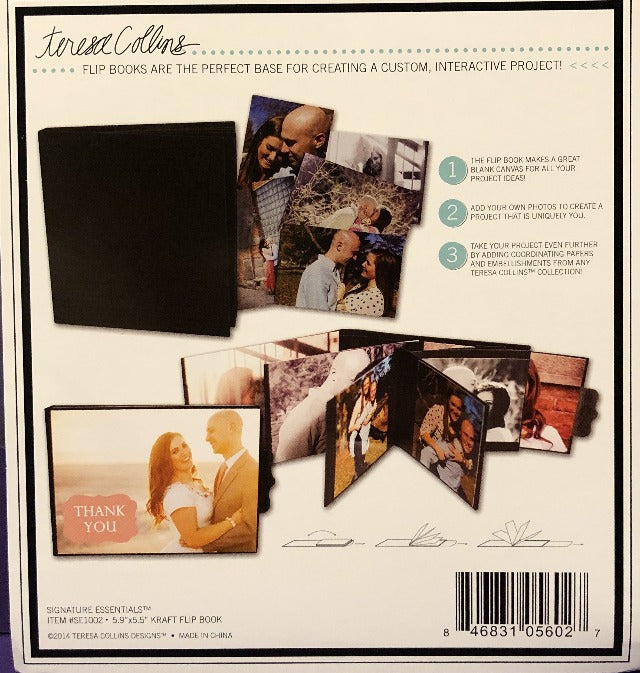 Signature Essentials 4 X 5.5 Kraft Flip Book by Teresa Collins