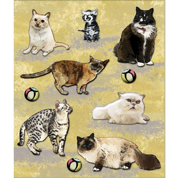 Variety Of Cats Sticker Medley
