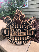 Personalized BBQ/Grilling/Outdoor Kitchen Birchwood Sign for Indoor/Outdoor - Can be Customized Wood Sign