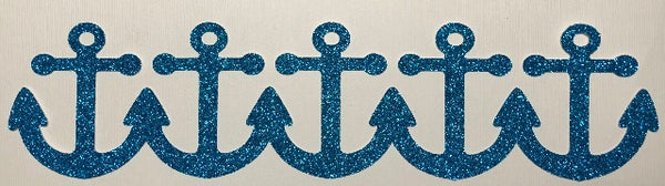 Anchor Border - Glitter - Die Cut