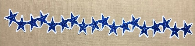 Glitter Star Borders - Die Cuts
