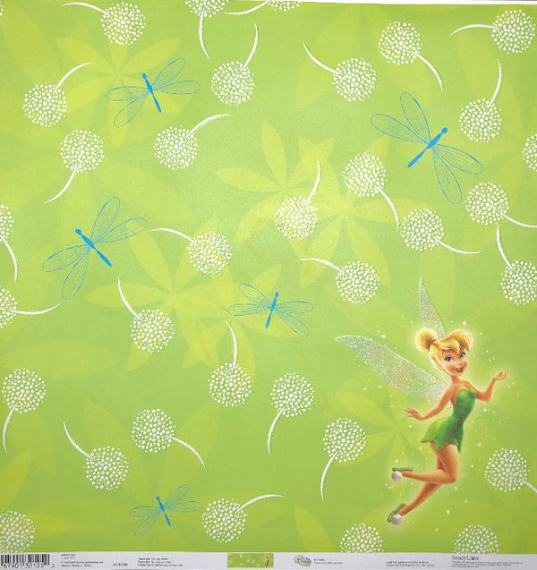 Tinker Bell - Sring Glitter 12 x 12 Cardstock - Single Sided