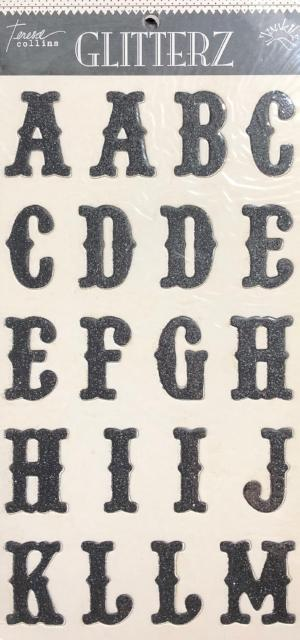 Black Chipboard Letters by Teresa Collins