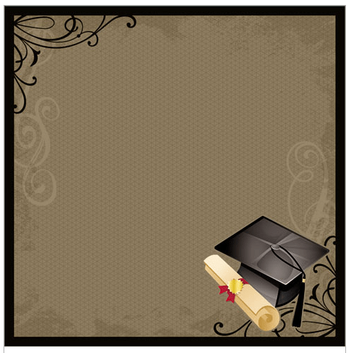 Graduation- Scrapbook Paper - 3D