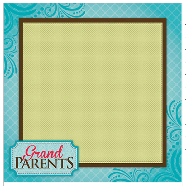 Grandparents - Scrapbook Paper - 3D