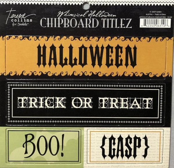 Whimsical Halloween Chipboard