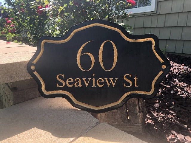 Personalized Outdoor Wood Sign, House Number Sign, Address sign, Custom Plaque, Hand Painted Address Sign