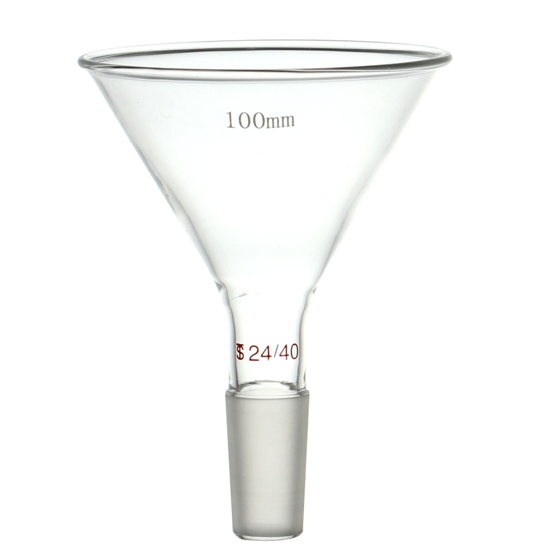 Hardware Factory Store Inc - 24-40 Joint Glass Feeding Funnel - 4""