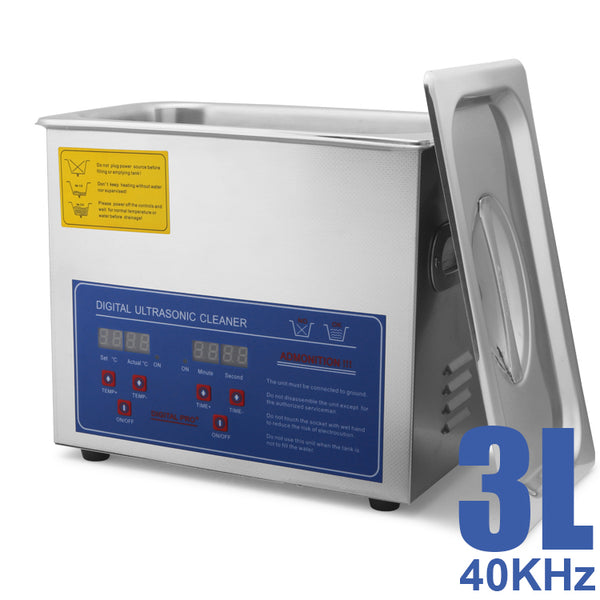 Hardware Factory Store Inc - Commercial Grade Ultrasonic Cleaners - 3L