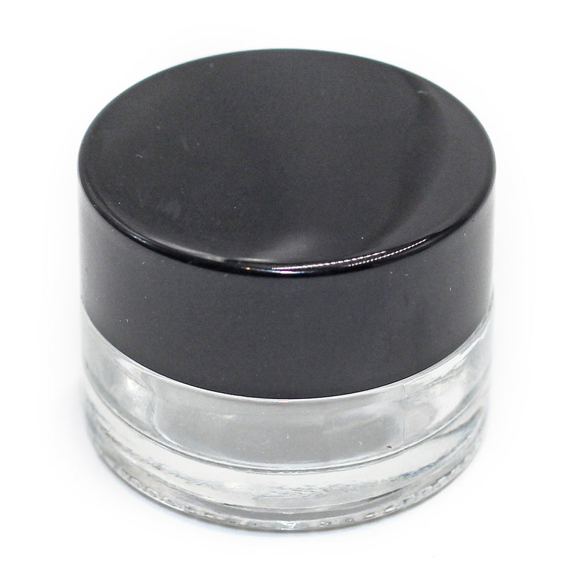 Hardware Factory Store Inc - 5mL Glass Jar with Seal screw cap (transparent jar with Black Cap) - [variant_title]