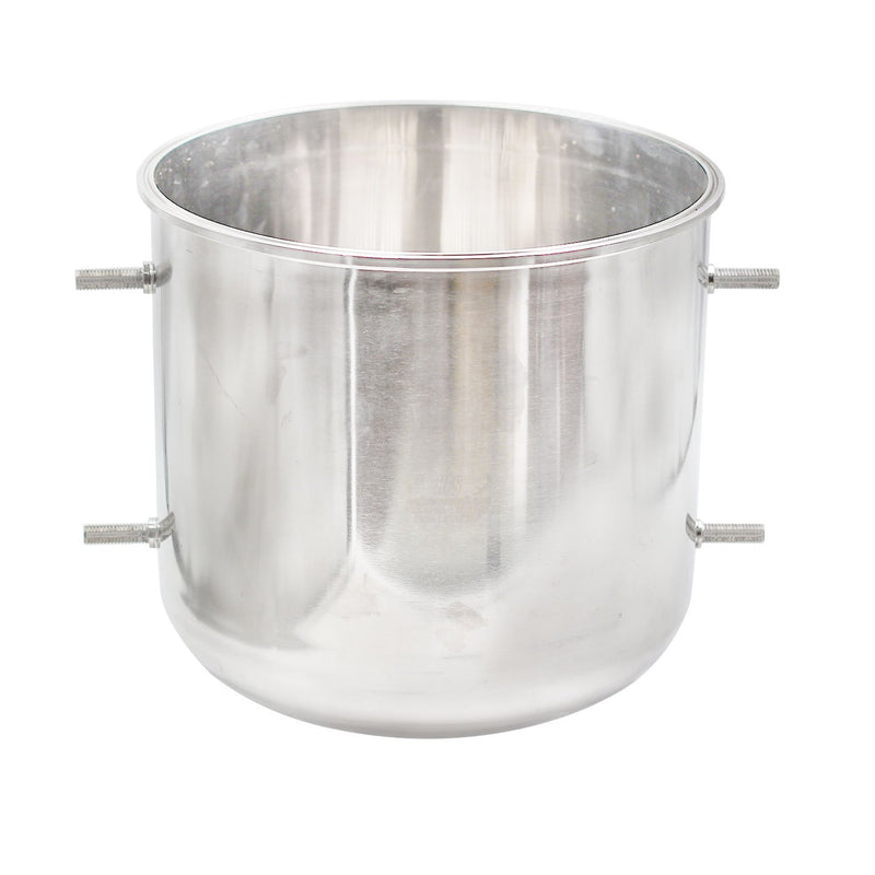"304 Stainless Steel Base Container 12"" Diameter by 8 OR 24"" Tall with Round Base"